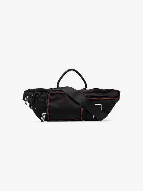 Ganni Black climbing clasp nylon belt bag