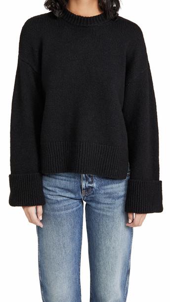 FRAME Leon Sweater in noir