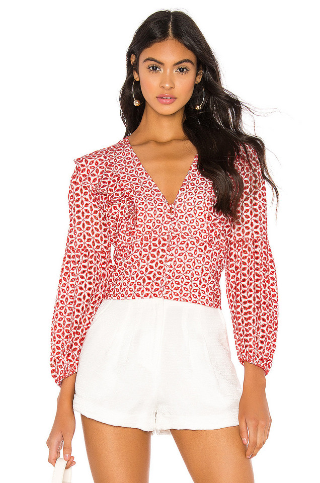 Bardot Camille Blouse in red