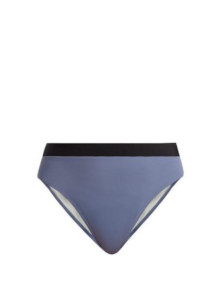 Solid & Striped - The Alexa High Rise Bikini Briefs - Womens - Light Blue