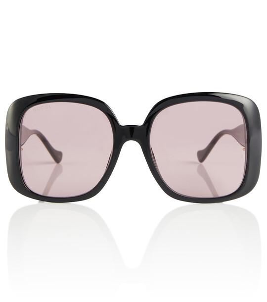 Gucci Logo-detailed square sunglasses in black