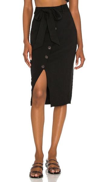 Lovers + Friends Lovers + Friends Watson Midi Skirt in Black