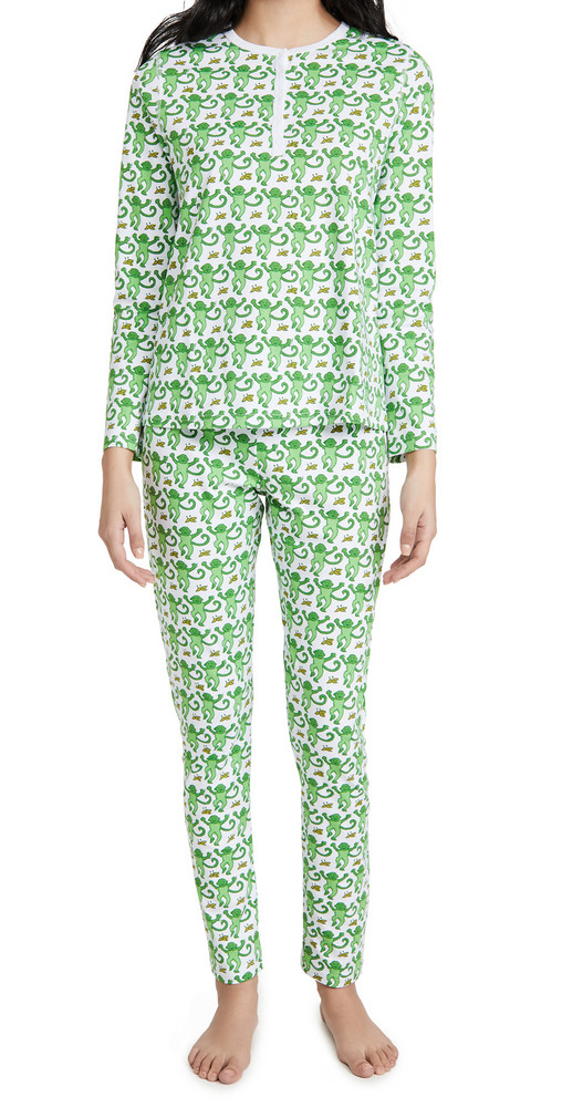 Roller Rabbit Monkeys Pajamas in green