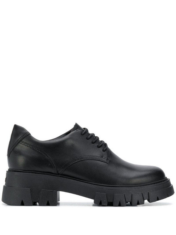 Ash chunky sole lace-up shoes in black