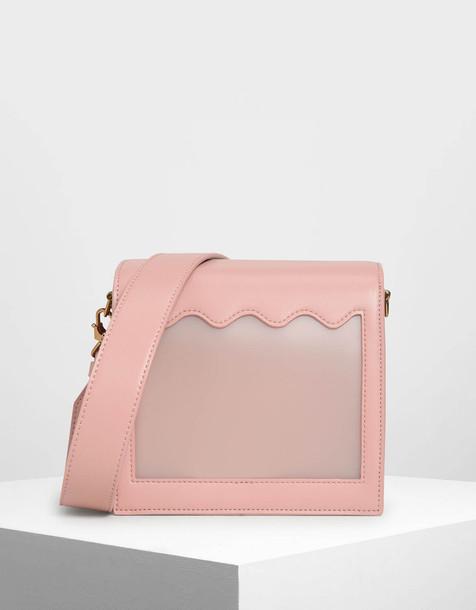 Window Crossbody Bag in pink