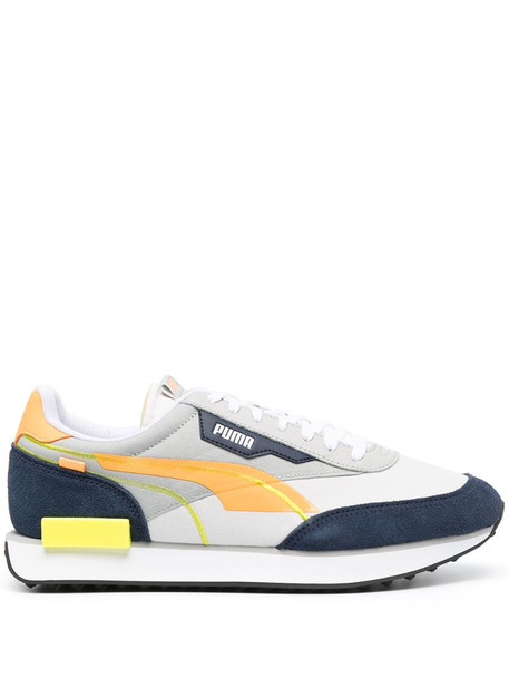 Puma panelled lace-up sneakers in grey