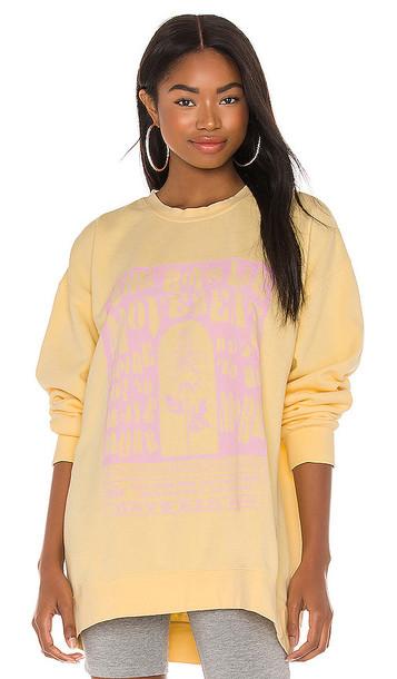 Boys Lie Movement Y1 Crewneck Sweatshirt in Yellow
