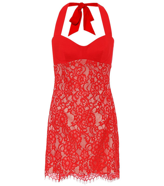 RASARIO Lace minidress in red