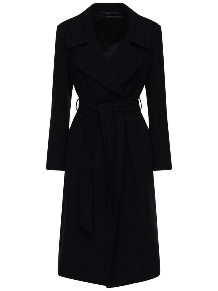TAGLIATORE Molly Belted Wool & Cashmere Coat in black