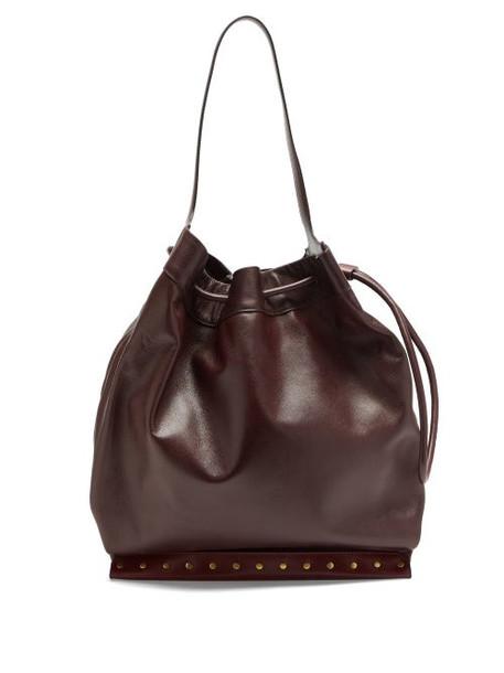 Isabel Marant - Sanky Medium Leather Shoulder Bag - Womens - Burgundy