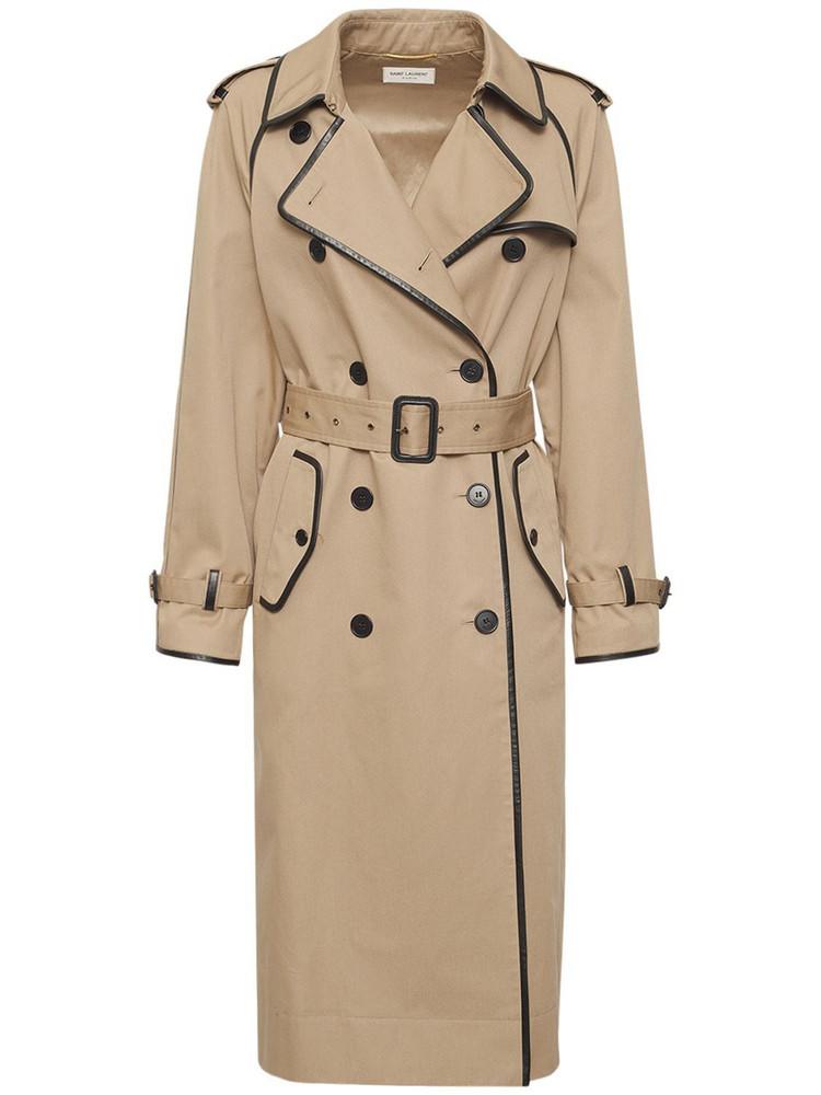 SAINT LAURENT Classic Gabardine Trench Coat