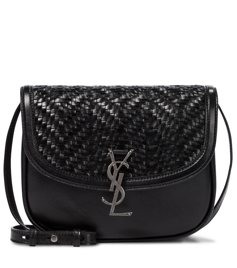 Saint Laurent Kaia Medium leather shoulder bag in black