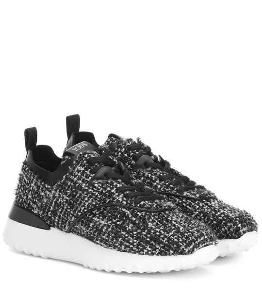 Tod's Exclusive to Mytheresa – tweed sneakers in black