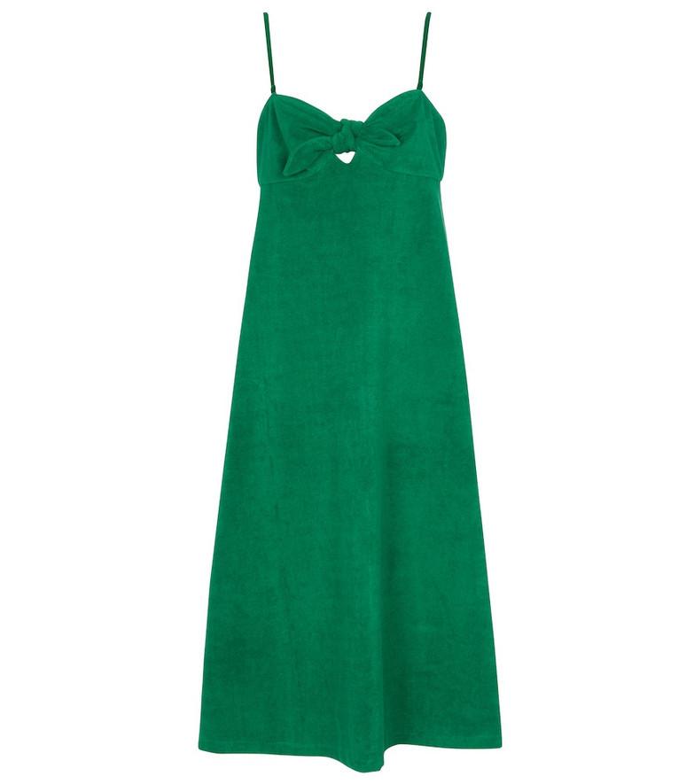 Zimmermann Teddy terry bandeau midi dress in green