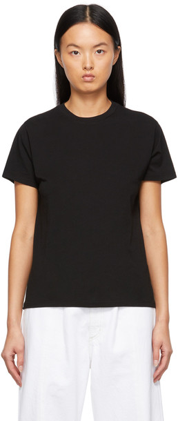 AGOLDE Black Supima Cotton Rena T-Shirt