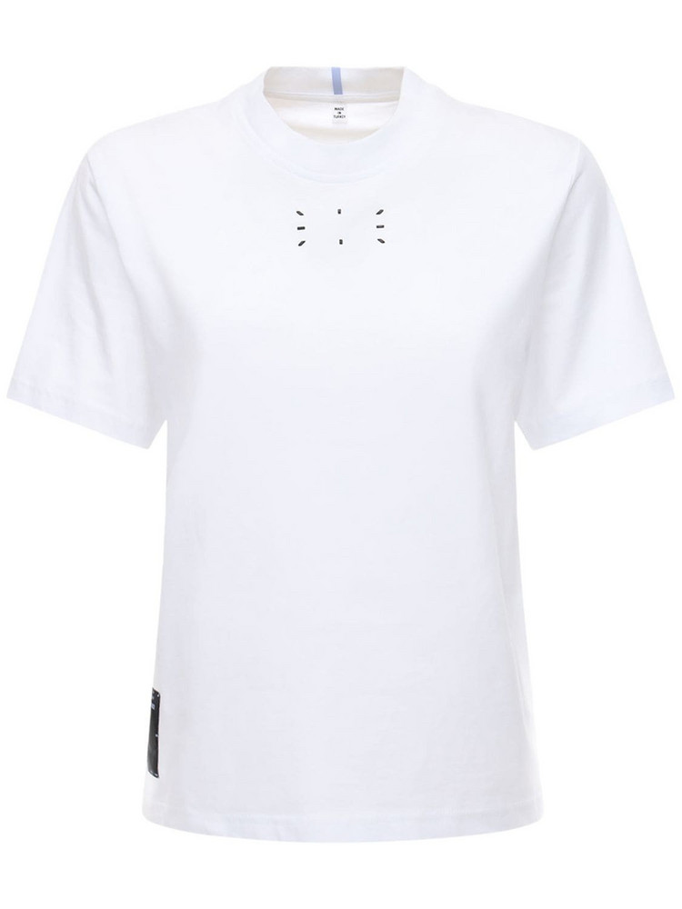 MCQ Logo Cotton Jersey T-shirt in white