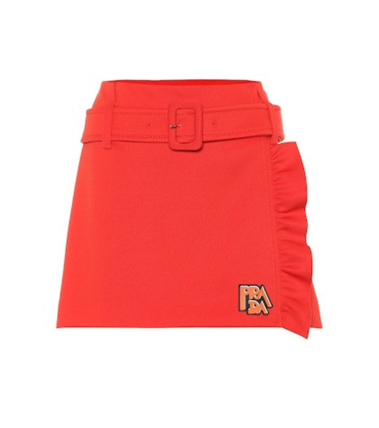 Prada Technical jersey miniskirt in red