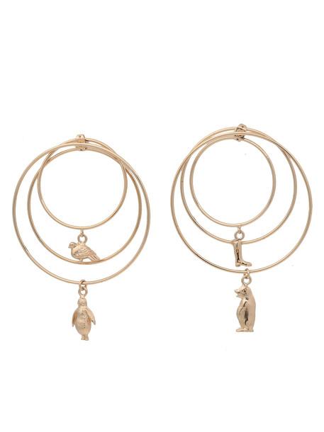 Marni Pendant Earrings in gold