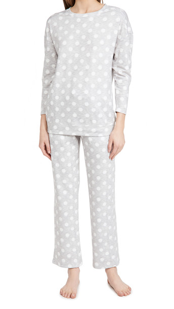 Emerson Road Brushed Butter Pajama Set in grey