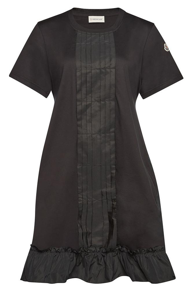 Moncler Cotton Mini Dress  in black