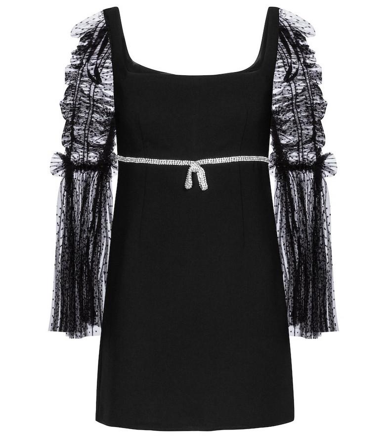 Self-Portrait Embellished minidress in black