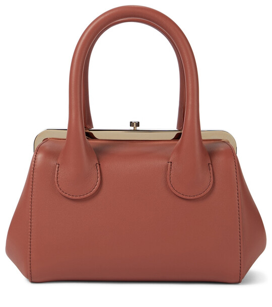 Chloé Joyce Small leather tote in brown