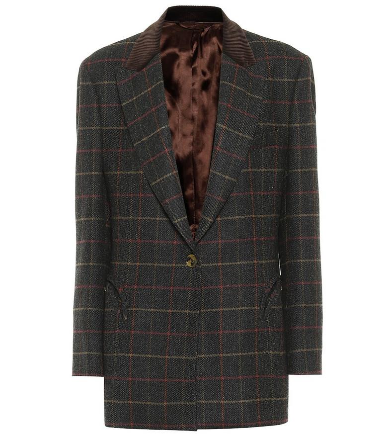 Blazé Milano Mondango checked virgin wool blazer in grey
