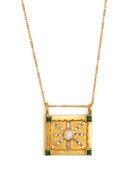 Orit Elhanati - Moskva Diamond, Emerald, Opal & 18kt Gold Necklace - Womens - Gold