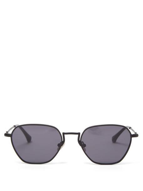 Linda Farrow - X Alessandra Rich Hexagonal Metal Sunglasses - Womens - Black