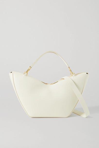 S.Joon - Tulip Large Leather Shoulder Bag - Cream