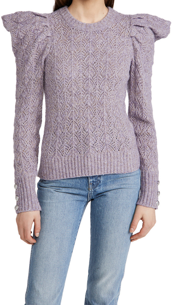 Veronica Beard Novah Crew Neck Sweater in lilac