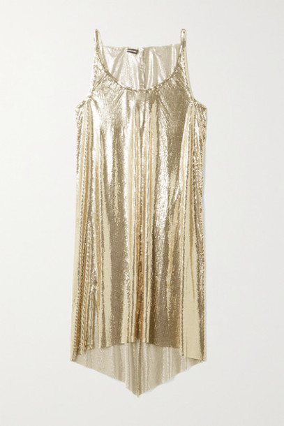 Paco Rabanne - Draped Chainmail Dress - Gold
