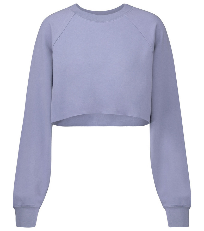 Alo Yoga Double Take cropped sweatshirt in blue