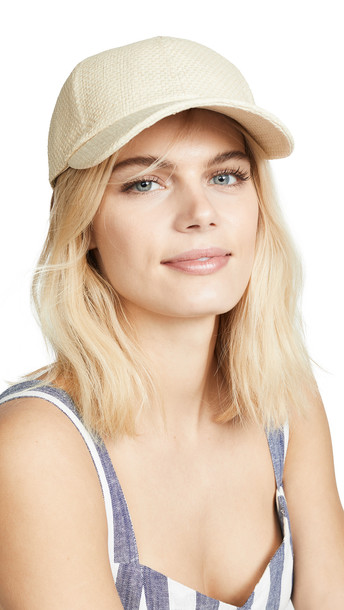 Hat Attack Straw Baseball Hat in natural