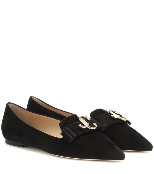 Jimmy Choo Gala suede loafers in black