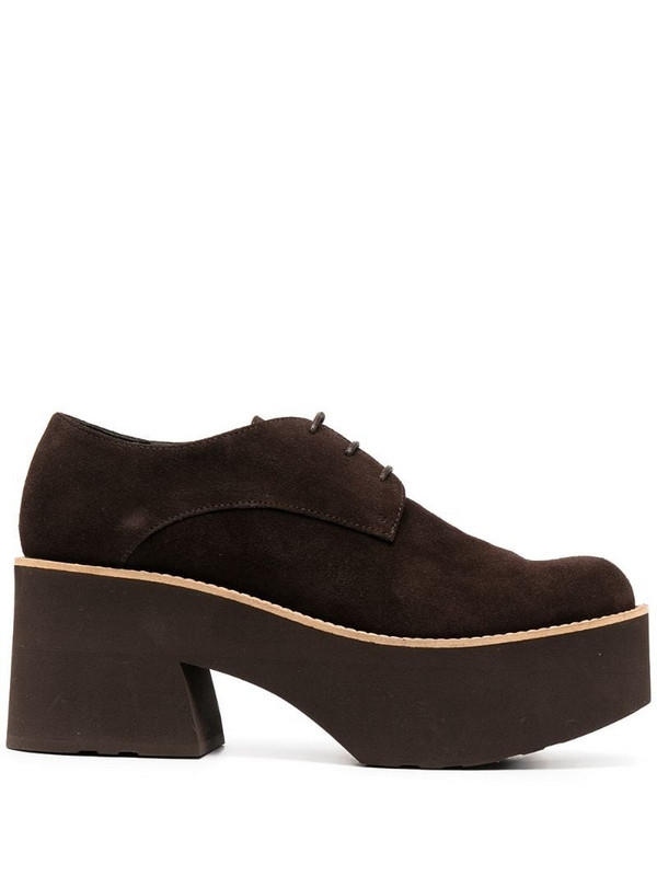 Paloma Barceló textured platform sole loafers in brown