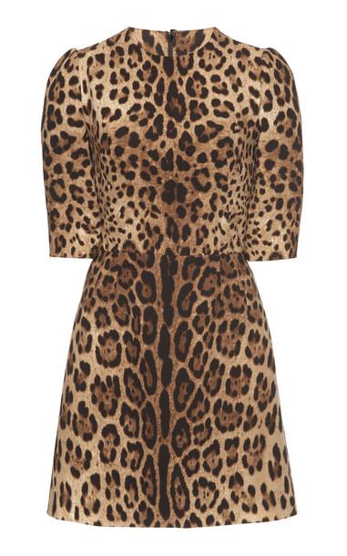 Dolce & Gabbana Printed Wool Mini Dress