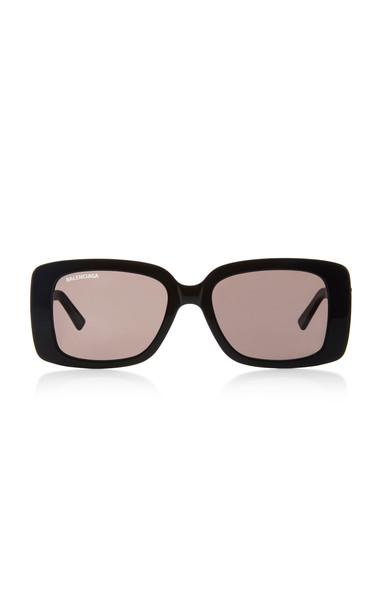 Balenciaga Square-Frame Acetate Sunglasses in black