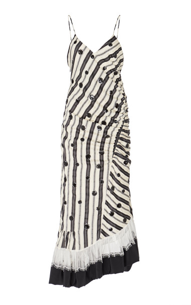Tory Burch Sequin Silk Embroidered Dress