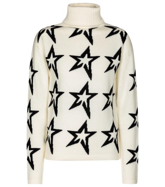 Perfect Moment Star Dust merino wool sweater in white