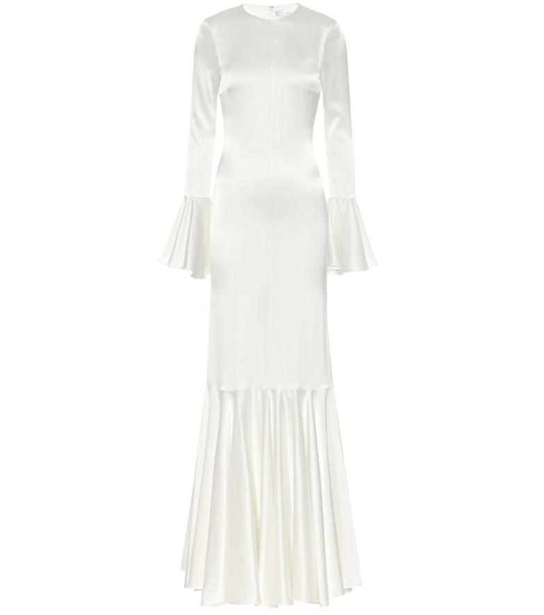 Caroline Constas Exclusive to Mytheresa – Allonia stretch-silk satin gown in white