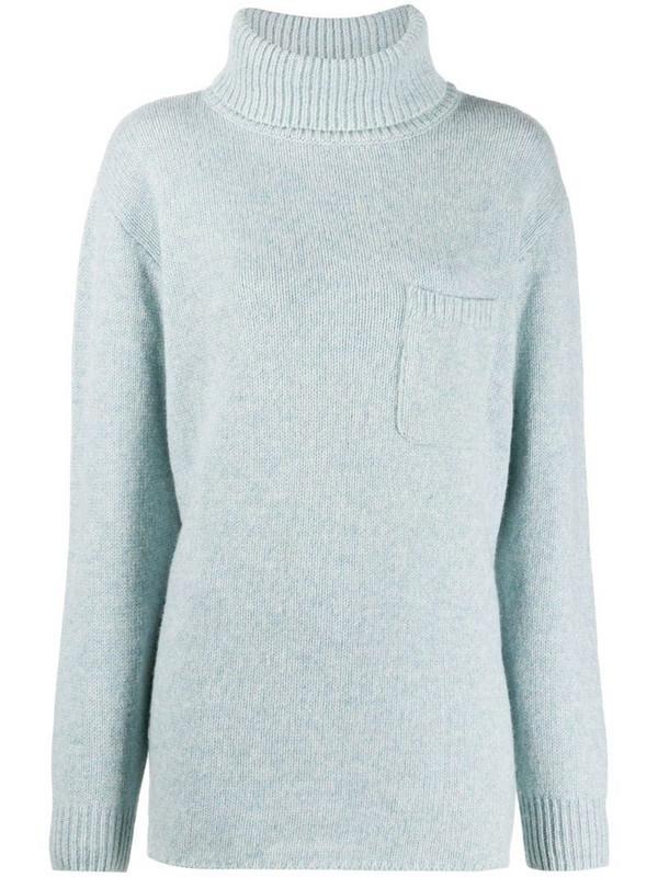 Maison Martin Margiela Pre-Owned 2000s roll-neck wool jumper in blue