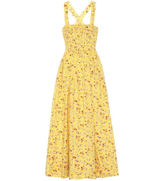 Polo Ralph Lauren Floral cotton midi dress in yellow