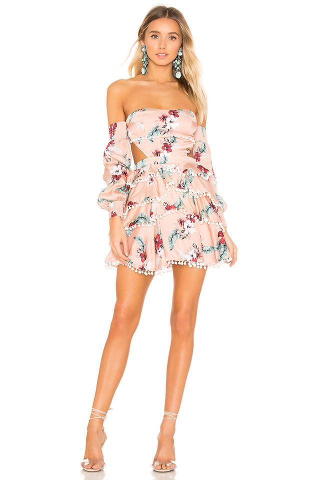 MAJORELLE Soho Mini Dress in pink