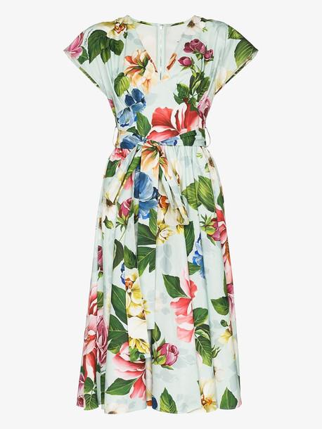 Dolce & Gabbana Belted floral print dress