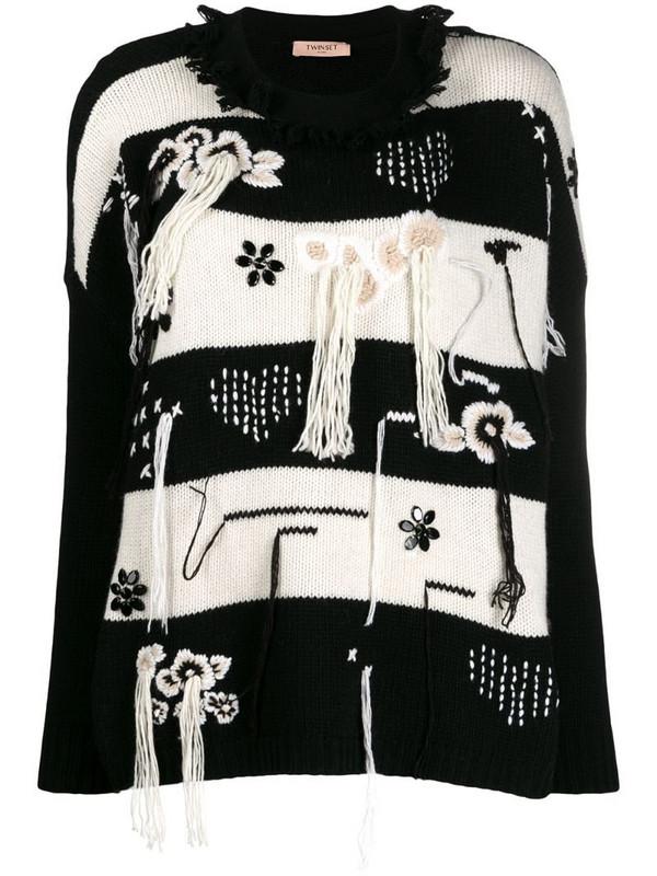 Twin-Set tassel detail jumper in black