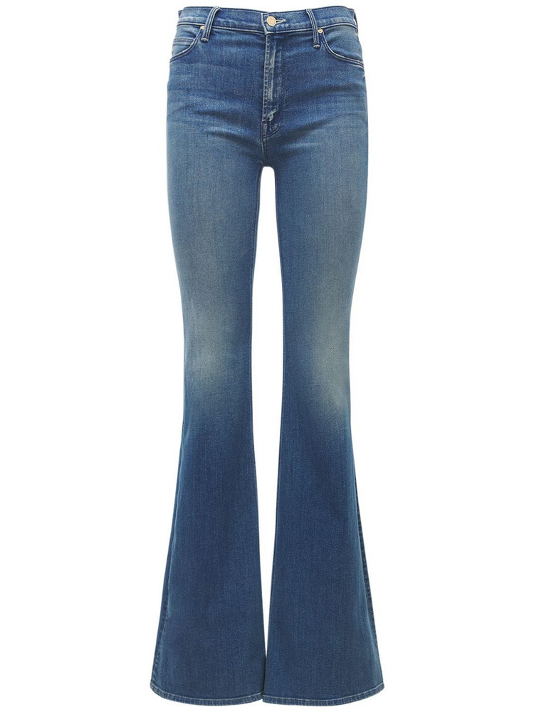MOTHER The Doozy High Rise Flared Jeans in blue