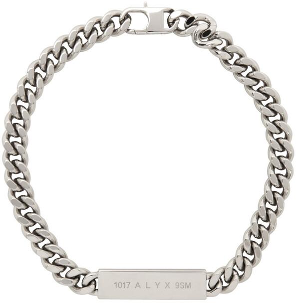 1017 ALYX 9SM Silver ID Necklace