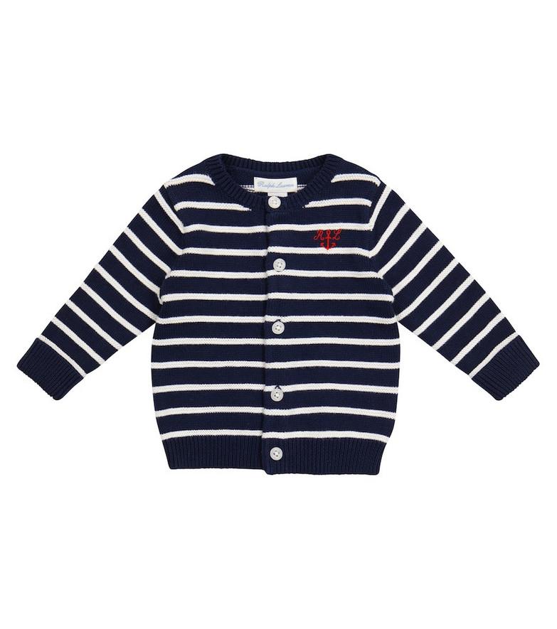 Polo Ralph Lauren Kids Striped cotton cardigan in blue