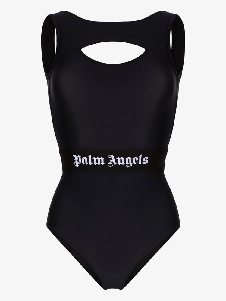 Palm Angels classic logo swimsuit in black